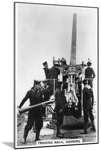 Training Naval Gunners, Whale Island, Portsmouth, Hampshire, 1937--Mounted Giclee Print