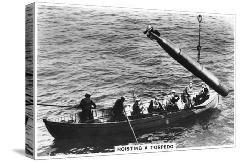 Hoisting a Torpedo, HMS 'Courageous, 1937--Stretched Canvas Print