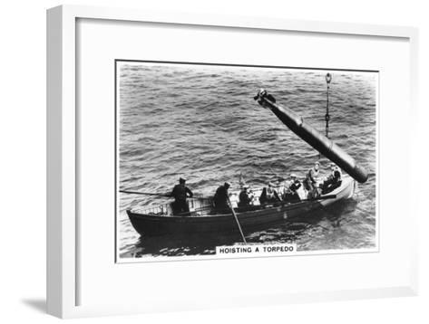 Hoisting a Torpedo, HMS 'Courageous, 1937--Framed Art Print