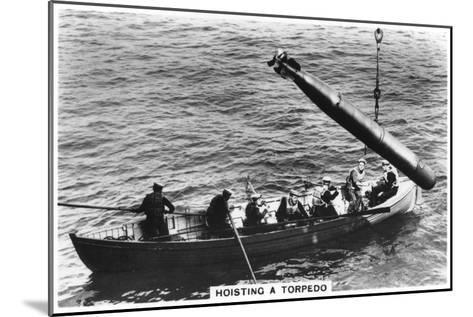 Hoisting a Torpedo, HMS 'Courageous, 1937--Mounted Giclee Print