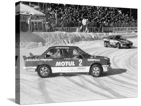 A BMW 325IX During the Chamonix Ice Race, France, 1989--Stretched Canvas Print