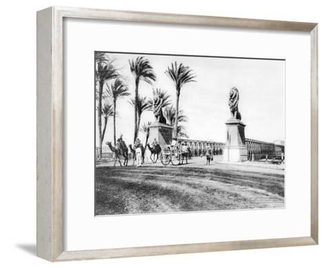 The Kasr-El-Nile Bridge, Cairo, Egypt, C1920S--Framed Art Print