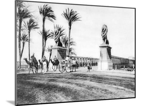 The Kasr-El-Nile Bridge, Cairo, Egypt, C1920S--Mounted Giclee Print