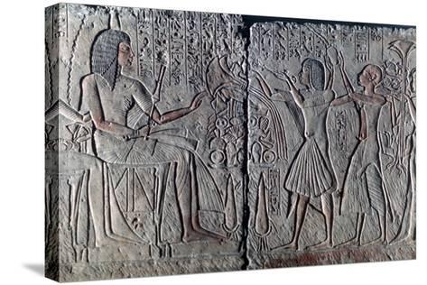 Ancient Egyptian Relief, C1300 Bc--Stretched Canvas Print