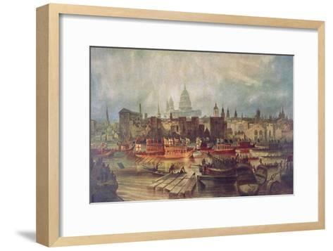 The Lord Mayor's Procession by Water to Westminster, London, C1820--Framed Art Print