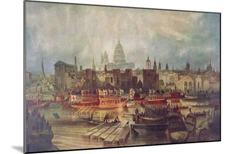 The Lord Mayor's Procession by Water to Westminster, London, C1820--Mounted Giclee Print