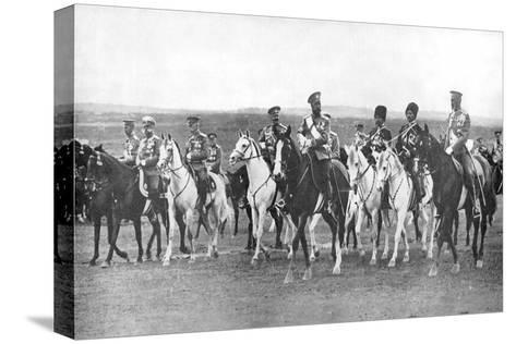 Nicholas II and Supporting Officers on Horseback, C1900--Stretched Canvas Print