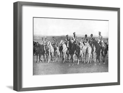 Nicholas II and Supporting Officers on Horseback, C1900--Framed Art Print