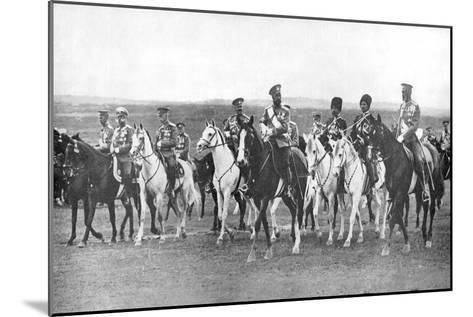 Nicholas II and Supporting Officers on Horseback, C1900--Mounted Giclee Print