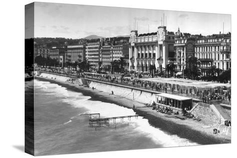 Le Palais De La Mediterranee on Promenade Des Anglais, Nice, South of France, Early 20th Century--Stretched Canvas Print