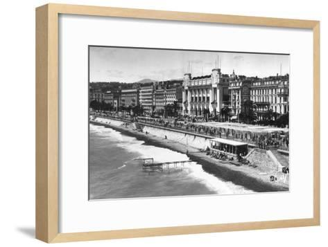 Le Palais De La Mediterranee on Promenade Des Anglais, Nice, South of France, Early 20th Century--Framed Art Print
