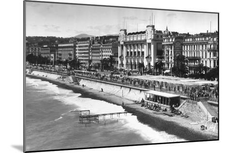 Le Palais De La Mediterranee on Promenade Des Anglais, Nice, South of France, Early 20th Century--Mounted Giclee Print