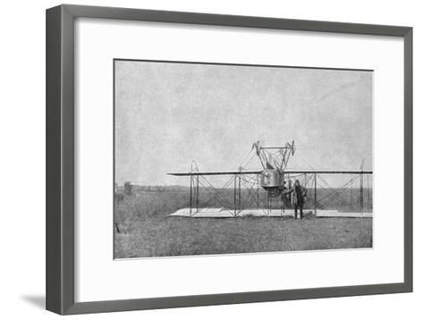 Biplane Crashed in a Field, World War I, France, 1915--Framed Art Print