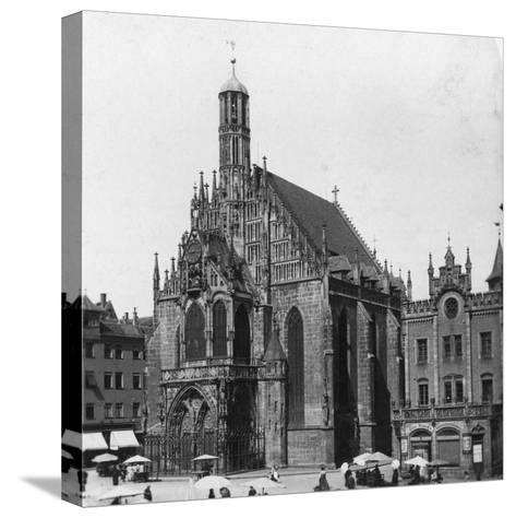 The Frauenkirche, Nuremberg, Bavaria, Germany, C1900-Wurthle & Sons-Stretched Canvas Print
