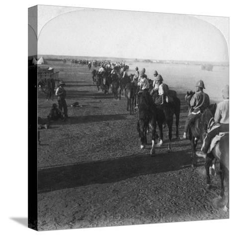 The 38th Battery at the Modder before Taking Part in Roberts' Advance, South Africa, Boer War, 1900-Underwood & Underwood-Stretched Canvas Print