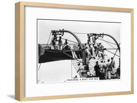 Preparing a Boat for Sea, 1937--Framed Art Print