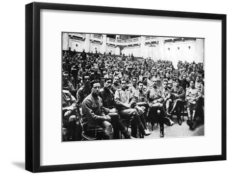 Seizure of the Russian Parliament in Petrograd by Revolutionary Soldiers, Russia, 1917--Framed Art Print