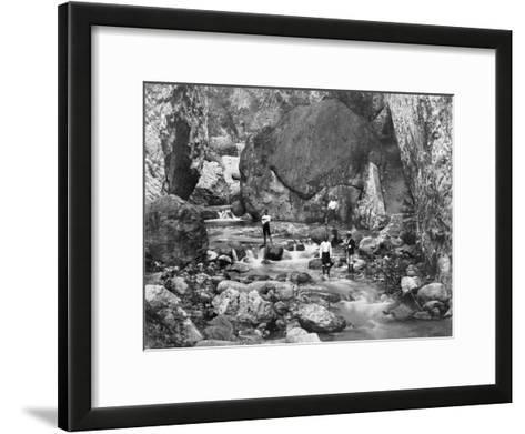 Cane River, Jamaica, C1905-Adolphe & Son Duperly-Framed Art Print