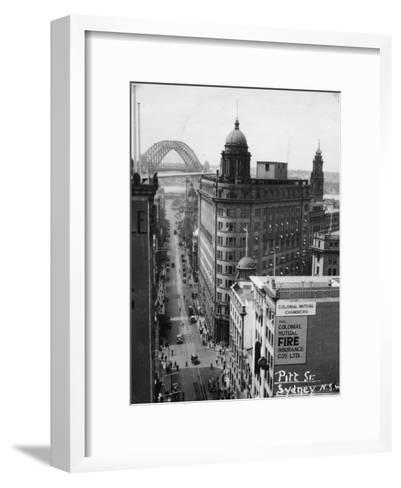 Pitt Street, Sydney, New South Wales, Australia, 1945--Framed Art Print