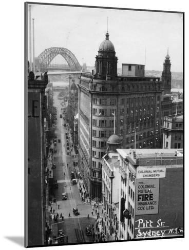 Pitt Street, Sydney, New South Wales, Australia, 1945--Mounted Giclee Print