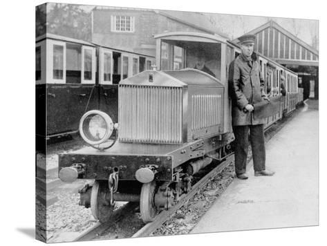 Rolls-Royce Silver Ghost Locomotive on the Romney, Hythe and Dymchurch Railway, 1933--Stretched Canvas Print