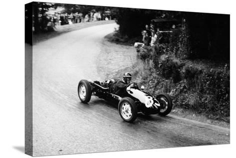 A Racing Driver Speeding Round a Bend, Harleyford Hill Climb, Buckinghamshire, (C1950-C1960)--Stretched Canvas Print
