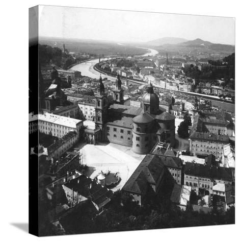 View of Salzburg from the Hohensalzburg Fortress, Salzburg, Austria, C1900-Wurthle & Sons-Stretched Canvas Print