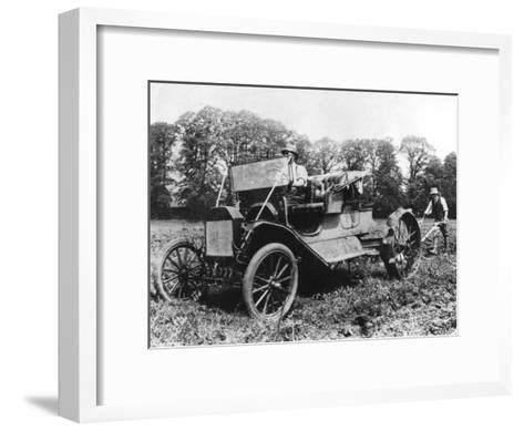 Model T Ford with Stephenson Agricultural Conversion, Sussex, 1917--Framed Art Print
