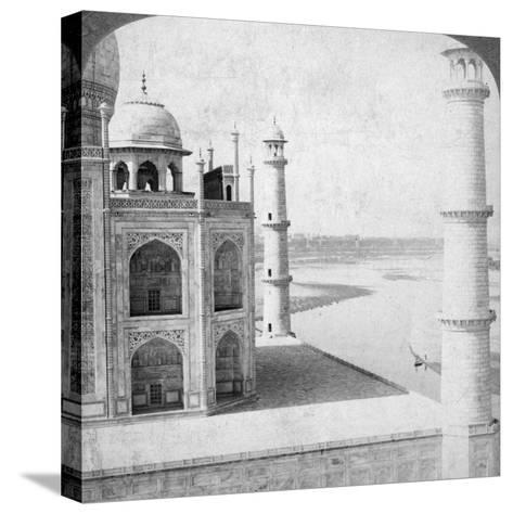 Looking North-West from the Taj Mahal Up the Jumna River to Agra, India, 1903-Underwood & Underwood-Stretched Canvas Print