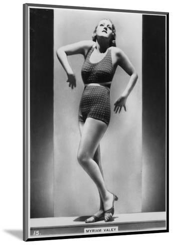 Myriam Valey, C1938--Mounted Giclee Print