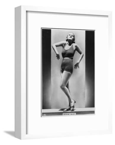 Myriam Valey, C1938--Framed Art Print