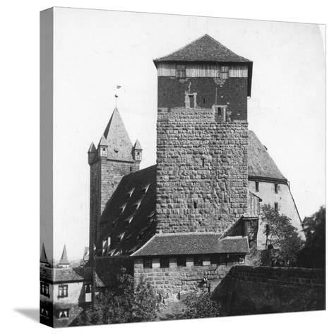 The Quintagonal Tower (Funfeckiger Thur), Kaiserstallung, Nuremberg, Germany, C1900s-Wurthle & Sons-Stretched Canvas Print
