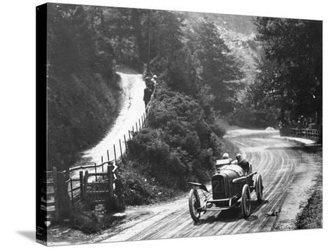 Al Guinness in a Sunbeam, Isle of Man Tt Race, 1914--Stretched Canvas Print