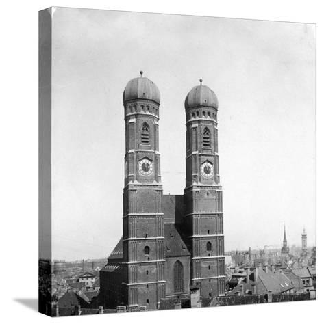The Frauenkirche, Munich, Germany, C1900-Wurthle & Sons-Stretched Canvas Print