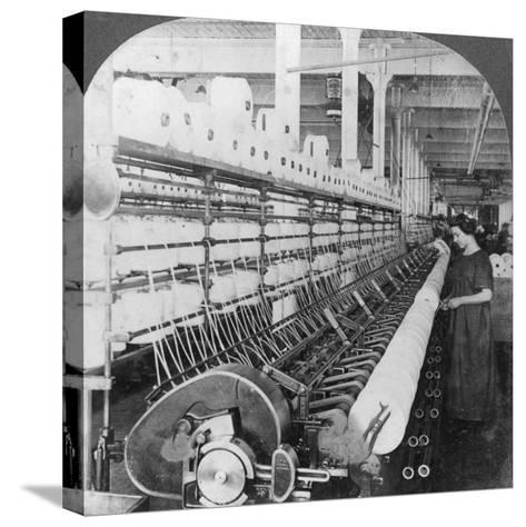 Doubling Frame in a Large Woollen Mill, Lawrence, Massachusetts, USA, Early 20th Century--Stretched Canvas Print