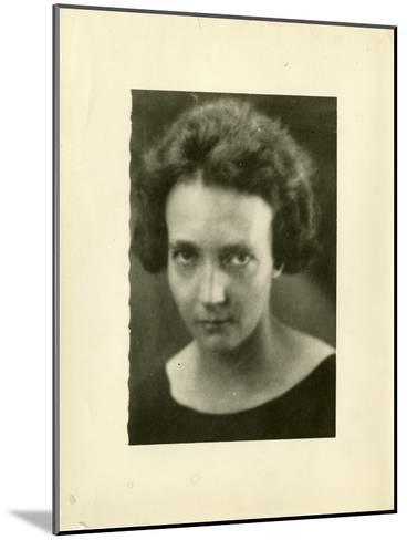 Portrait of Irene Joliot-Curie (1897-195)--Mounted Giclee Print