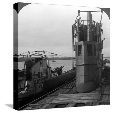 Conning Tower of a Mine-Laying German U-Boat, World War I, 1914-1918--Stretched Canvas Print
