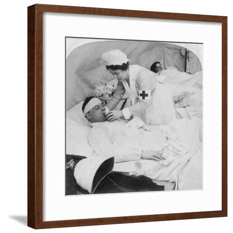 In a British Field Hospital on the Tugela River, South Africa, 2nd Boer War, 1900-Underwood & Underwood-Framed Art Print
