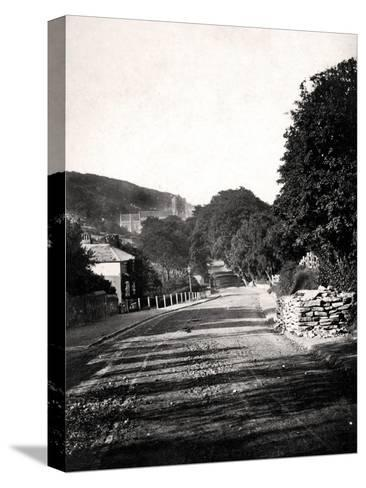 Street Through a Valley in Hastings, Sussex, Early 20th Century--Stretched Canvas Print