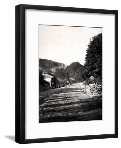 Street Through a Valley in Hastings, Sussex, Early 20th Century--Framed Art Print