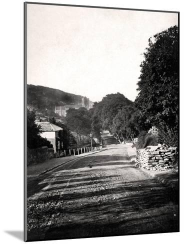 Street Through a Valley in Hastings, Sussex, Early 20th Century--Mounted Giclee Print