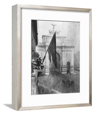 Us 1st Army Passing Through the Victory Arch, Madison Square, New York, USA, 10 September 1919--Framed Art Print