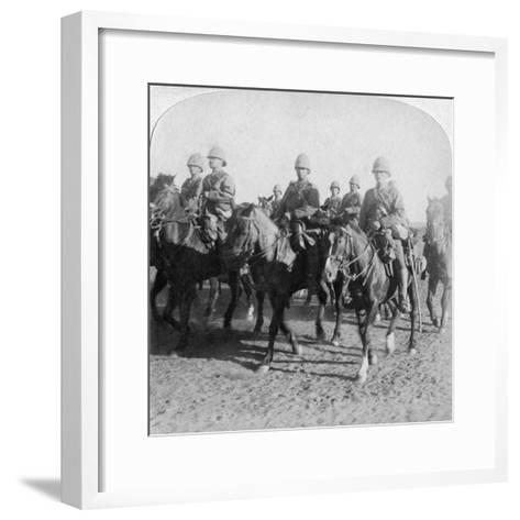 10th Hussars after Repulsing a Boer Attack, Colesberg, South Africa, 4th January 1900-Underwood & Underwood-Framed Art Print
