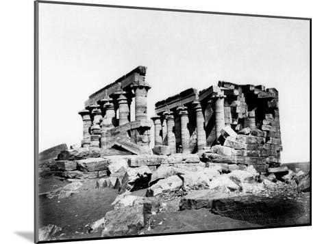 Temple of Maharrakah, Nubia, Egypt, C19th Century--Mounted Giclee Print