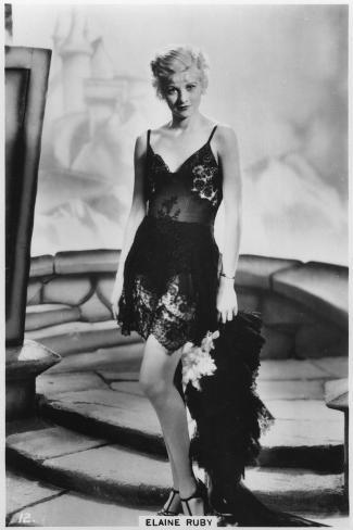 Elaine Ruby, C1938--Stretched Canvas Print