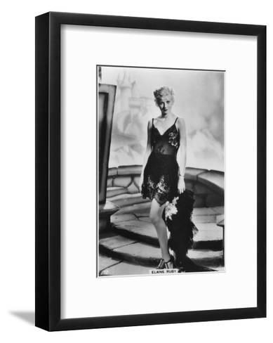 Elaine Ruby, C1938--Framed Art Print