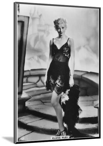 Elaine Ruby, C1938--Mounted Giclee Print