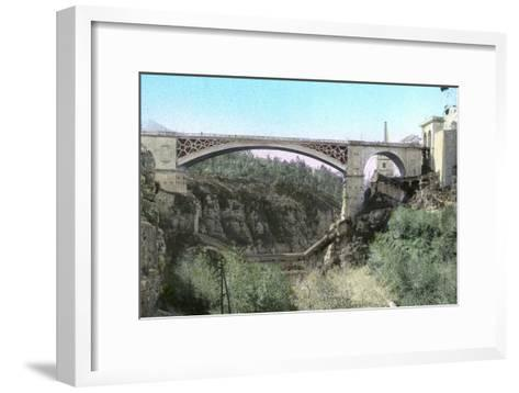 El-Kantara Bridge, Constantine, Northeast Algeria--Framed Art Print