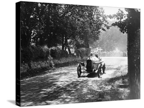 Sunbeam at the Isle of Man Tt Race, 1914--Stretched Canvas Print