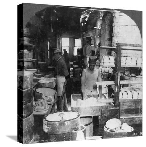 Firing Tableware in the Noted Pottery Centre, Trenton, New Jersey, USA, Early 20th Century--Stretched Canvas Print